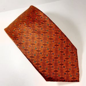 Daniel De Fasson Hand Made 100% Silk Orange Tie